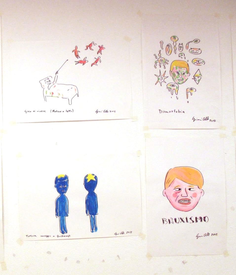 Gianni Cella, Occasioni fallite. Progetti di lavoro mai realizzati 2017 pennarello acquerello su carta 50x35 cm
