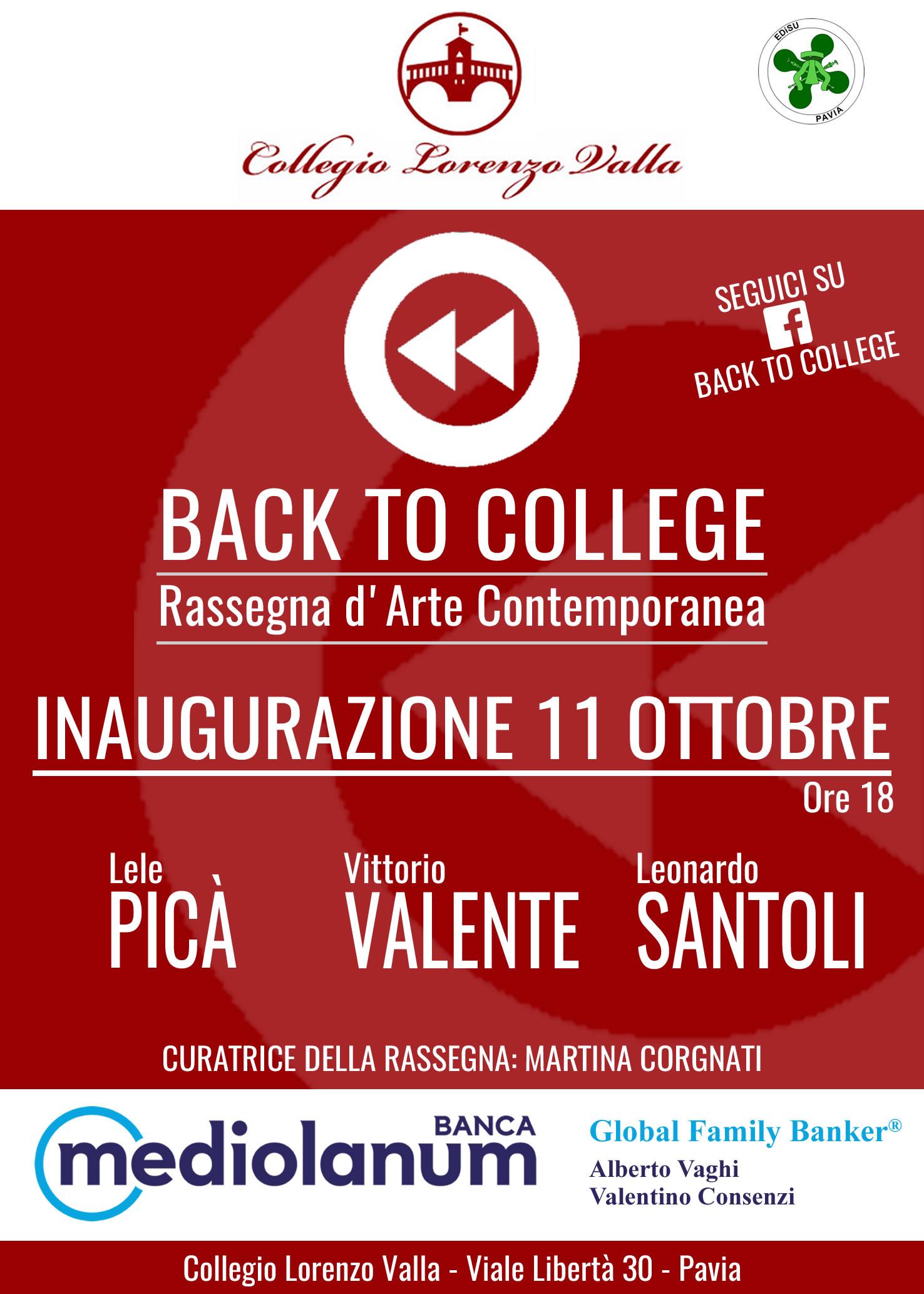 Back to College, Pavia, Ottobre 2016