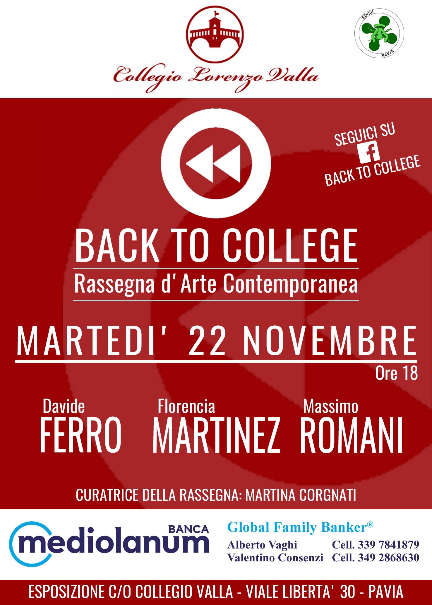 Back to College, Pavia, Novembre 2016