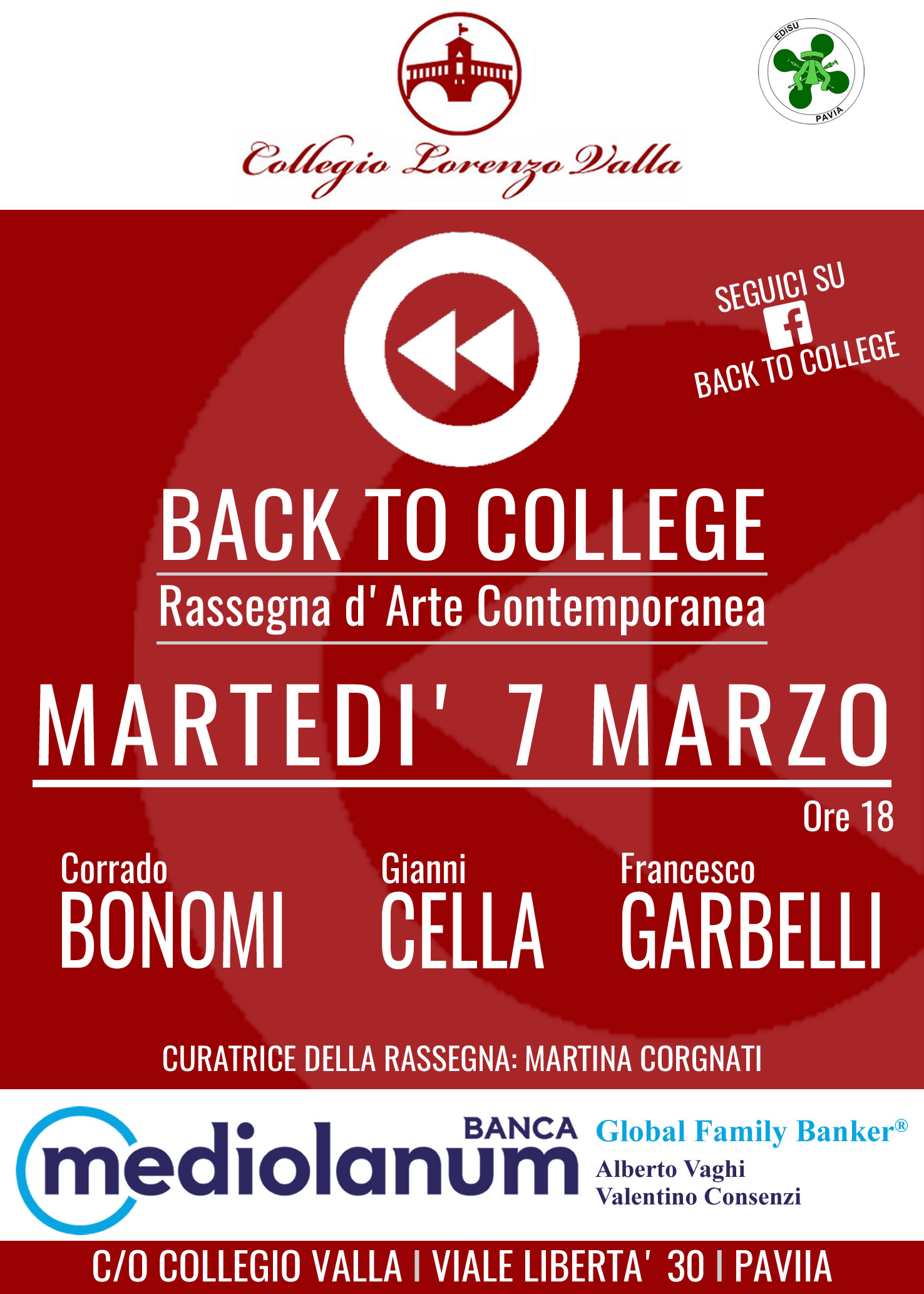 Back To College, Pavia, Marzo 2017