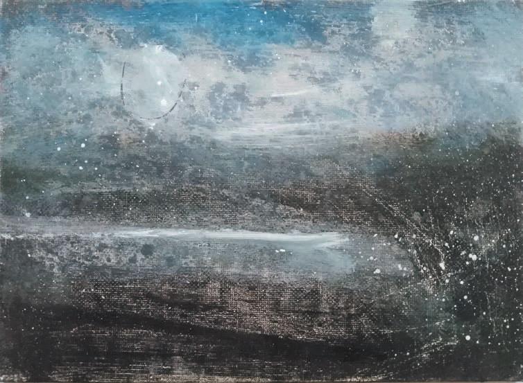 Massimo Romani, Landscape (10)- 2019 - olio su cartone telato - 13 x 18 cm