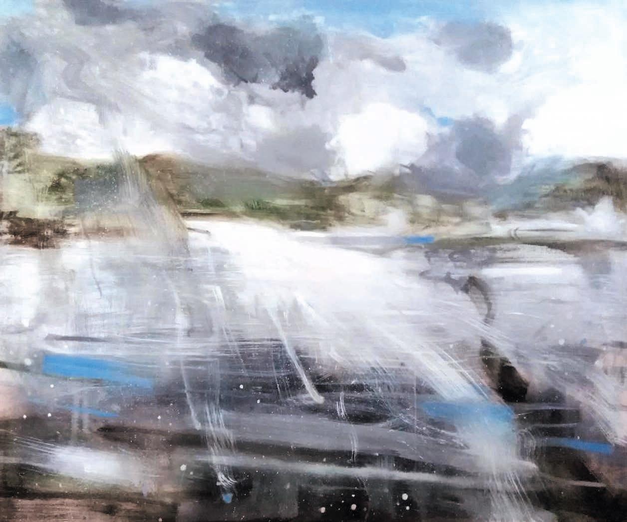 Massimo Romani, Landscape (11) - 2019 - olio su tela 100 x 120