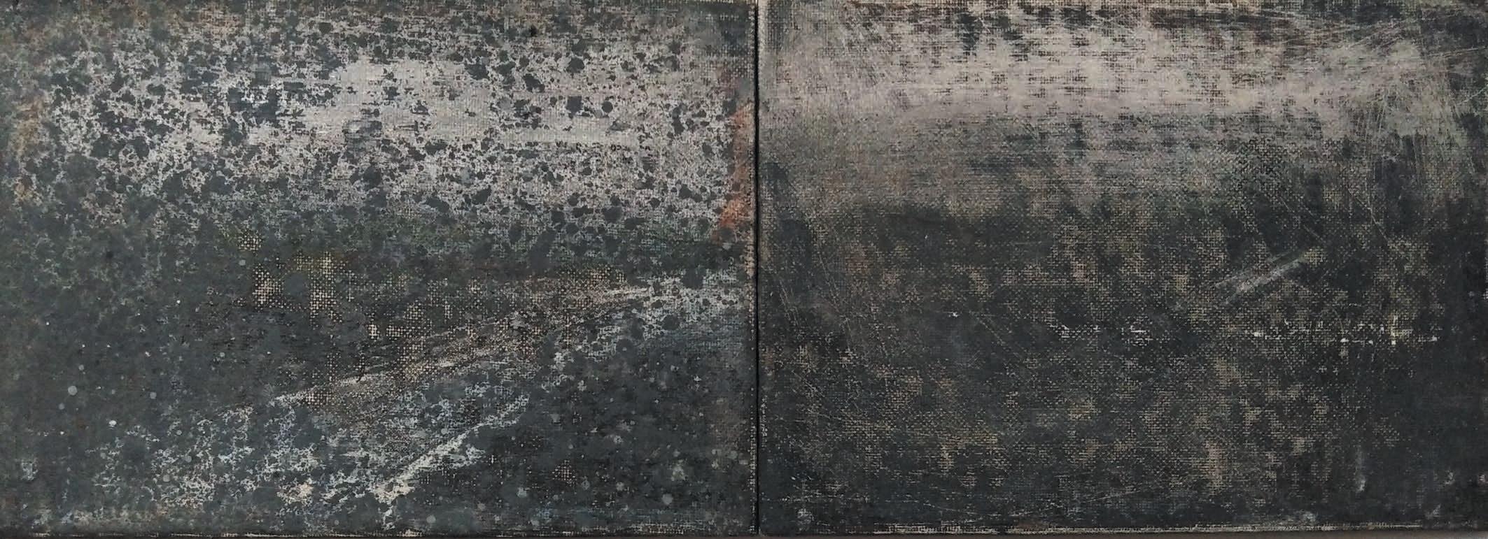 Massimo Romani, Landscape (14)- 2019 - olio su cartone telato - 13 x 36 cm