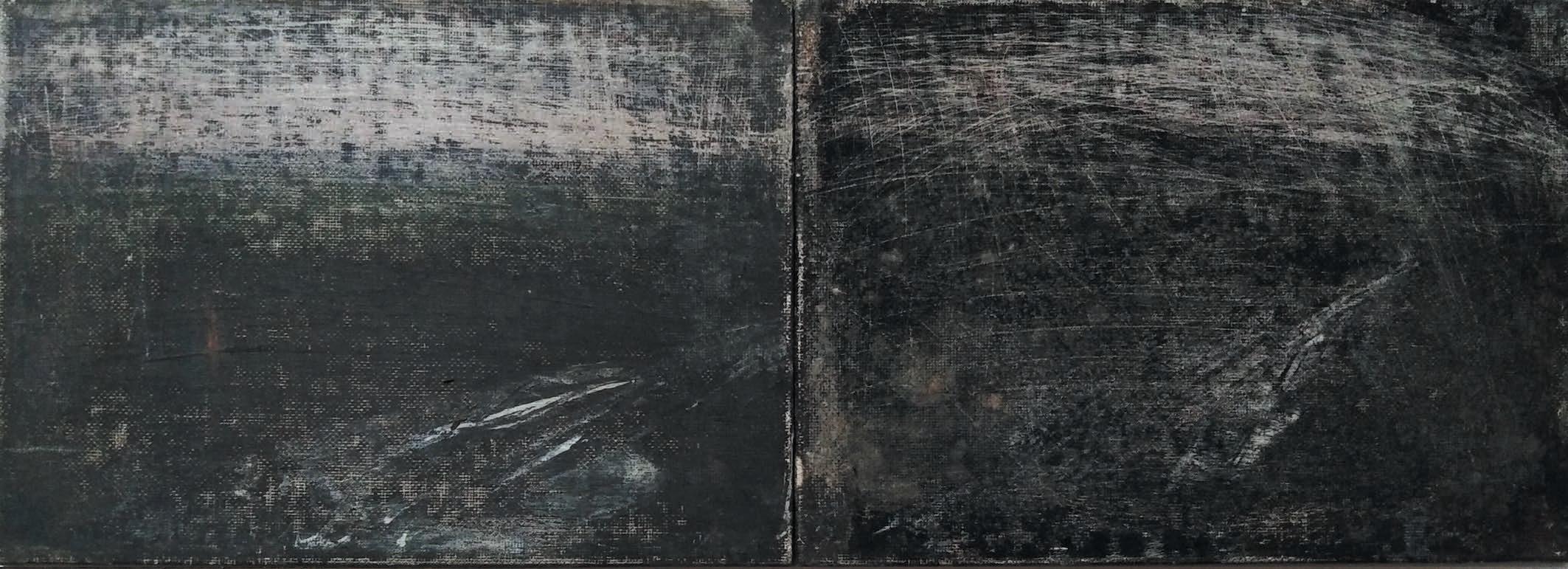 Massimo Romani, Landscape (15)- 2019 - olio su cartone telato - 13 x 36 cm