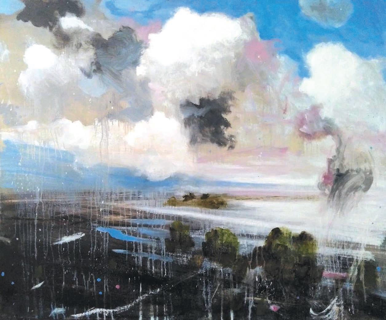 Massimo Romani, Landscape (5) - 2019 - olio su tela 100 x 120-min