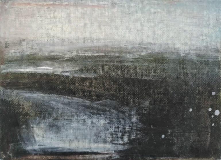 Massimo Romani, Landscape (6)- 2019 - olio su cartone telato - 13 x 18 cm