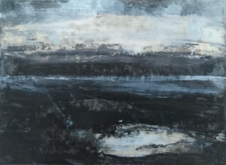 Massimo Romani, Landscape (7)- 2019 - olio su cartone telato - 13 x 18 cm