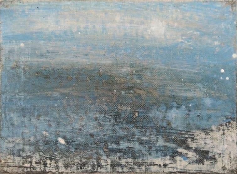 Massimo Romani, Landscape (9)- 2019 - olio su cartone telato - 13 x 18 cm