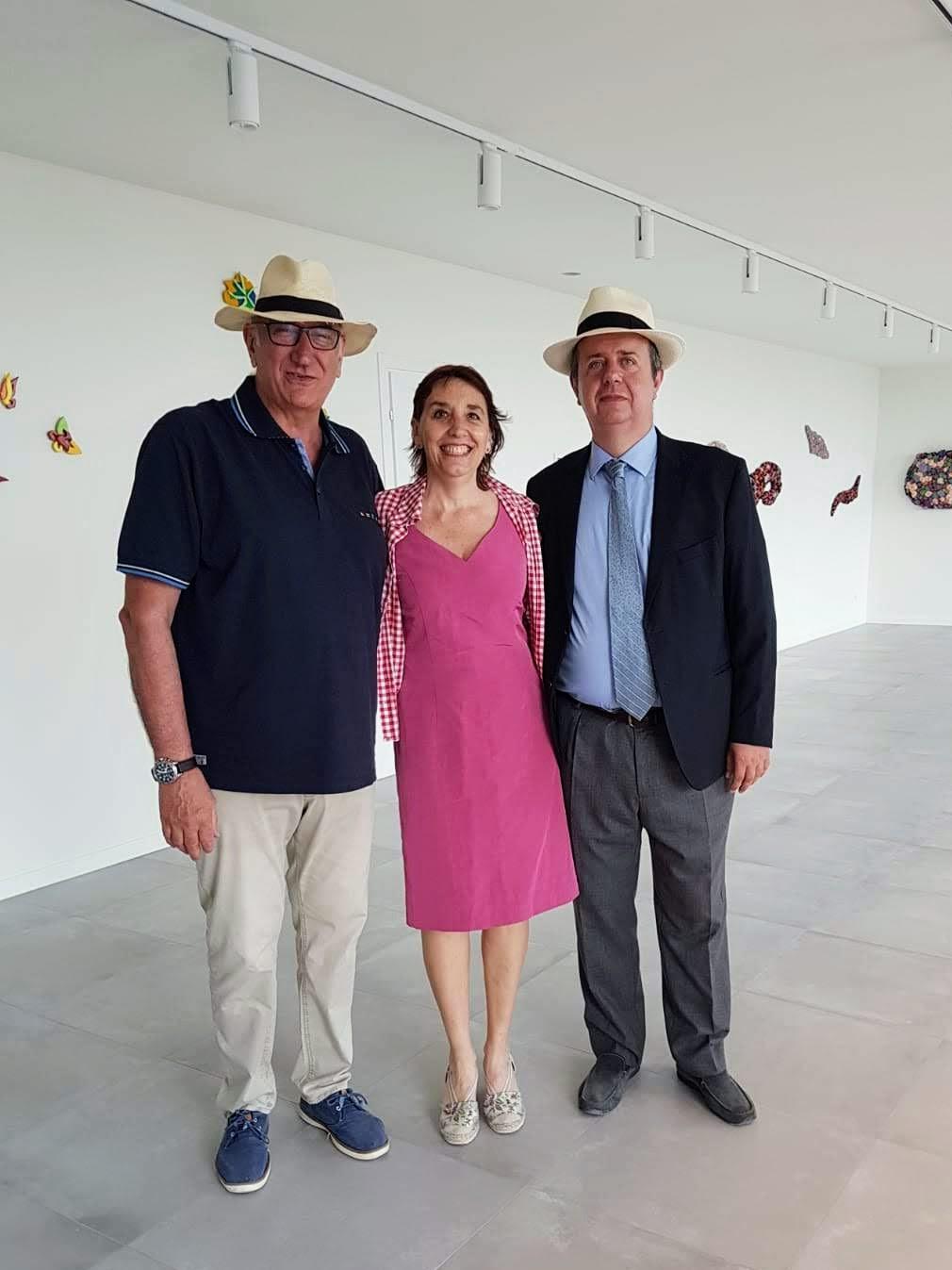 Mostra Brevi-Martinez a Borghetto - Gli artisti e Maurizio Maccarini
