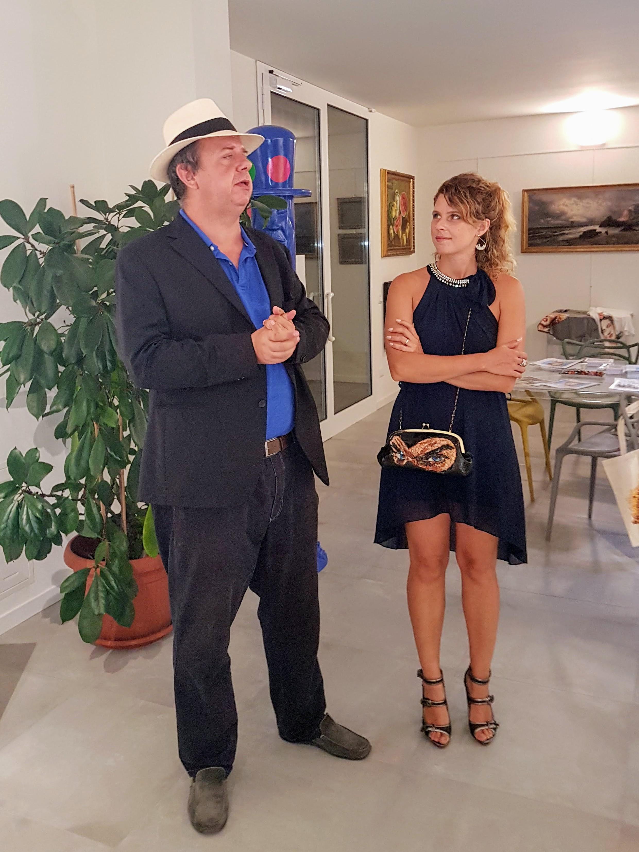 Mostra Lady Be a Borghetto - Lady Be e Maurizio Maccarini