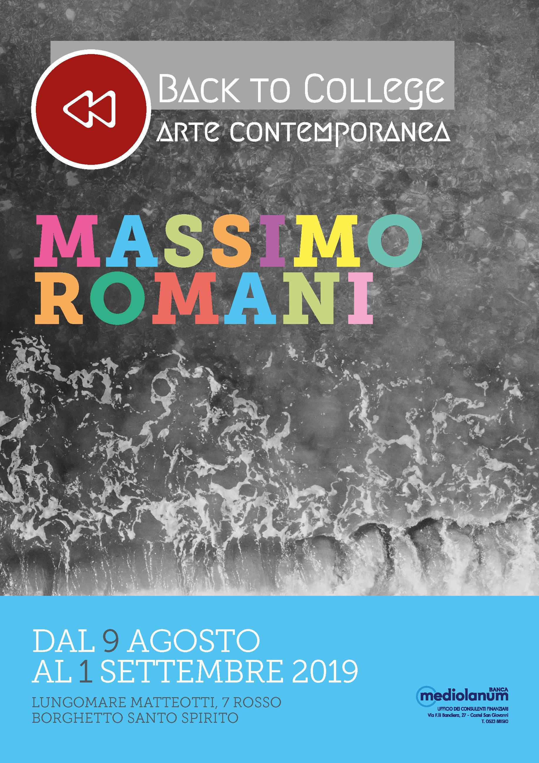Locandina mostra Massimo Romani a Borghetto 2019