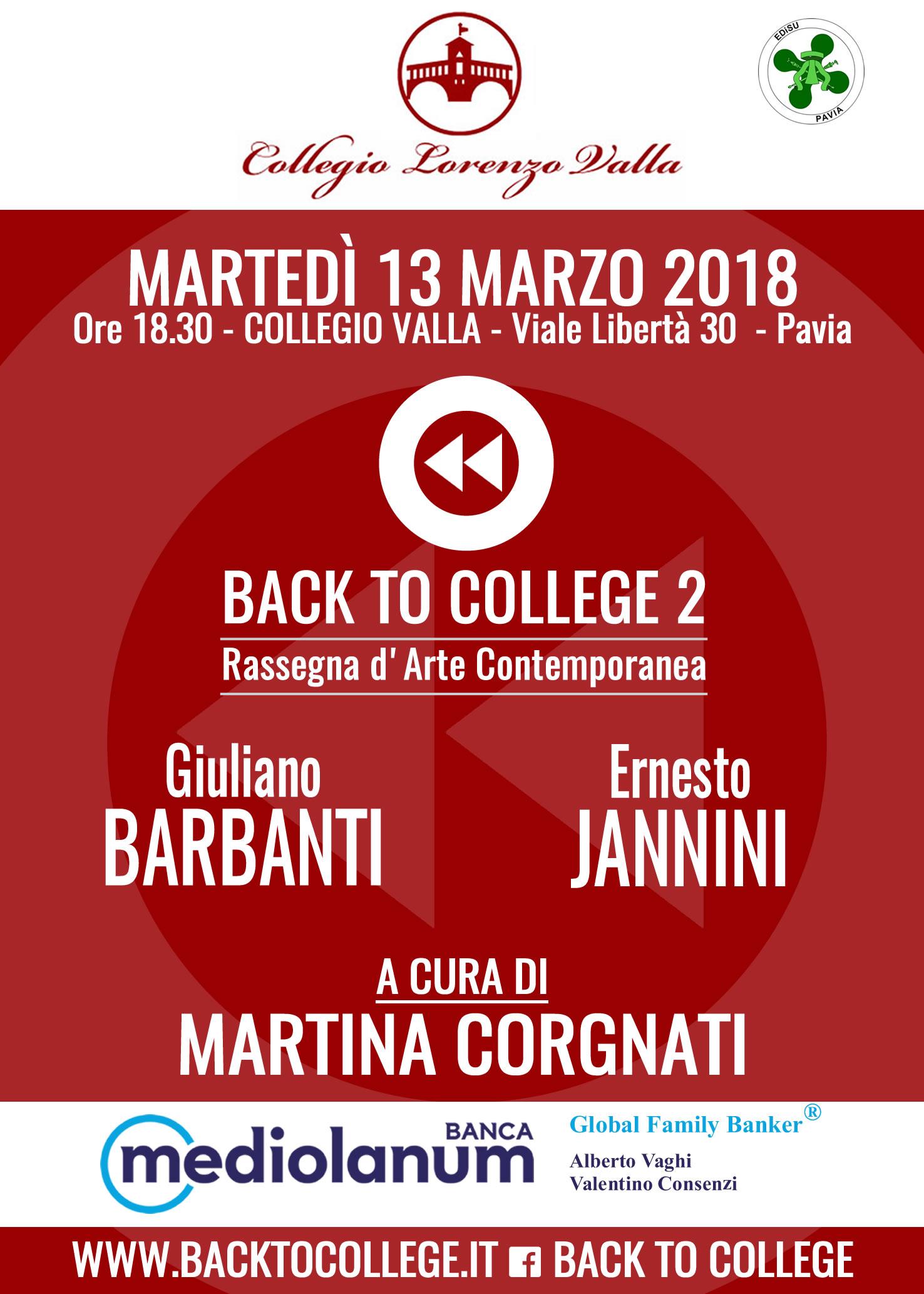 Locandina Back to College 2, 13 marzo 2018