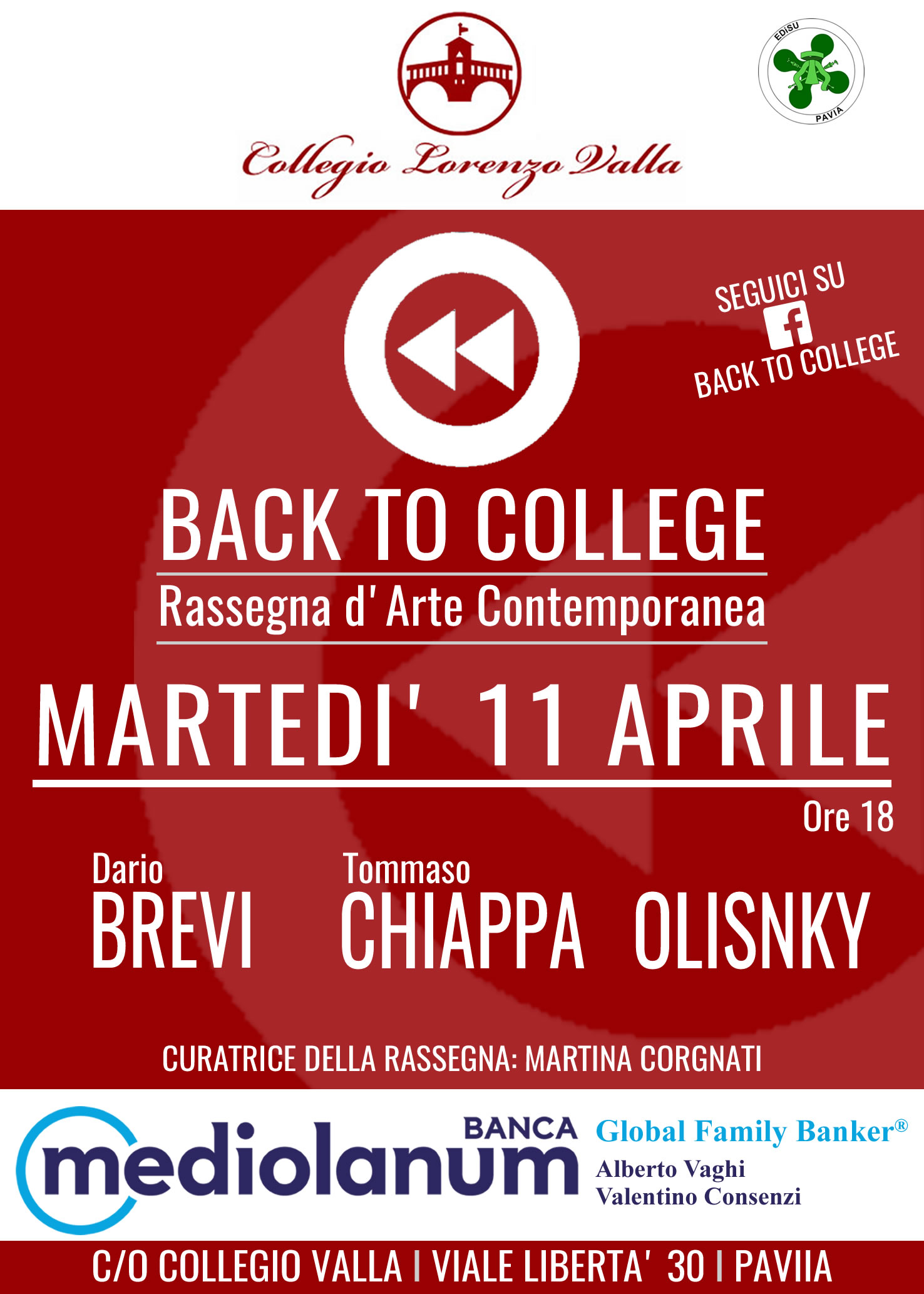 Back to College, Pavia, Aprile 2017