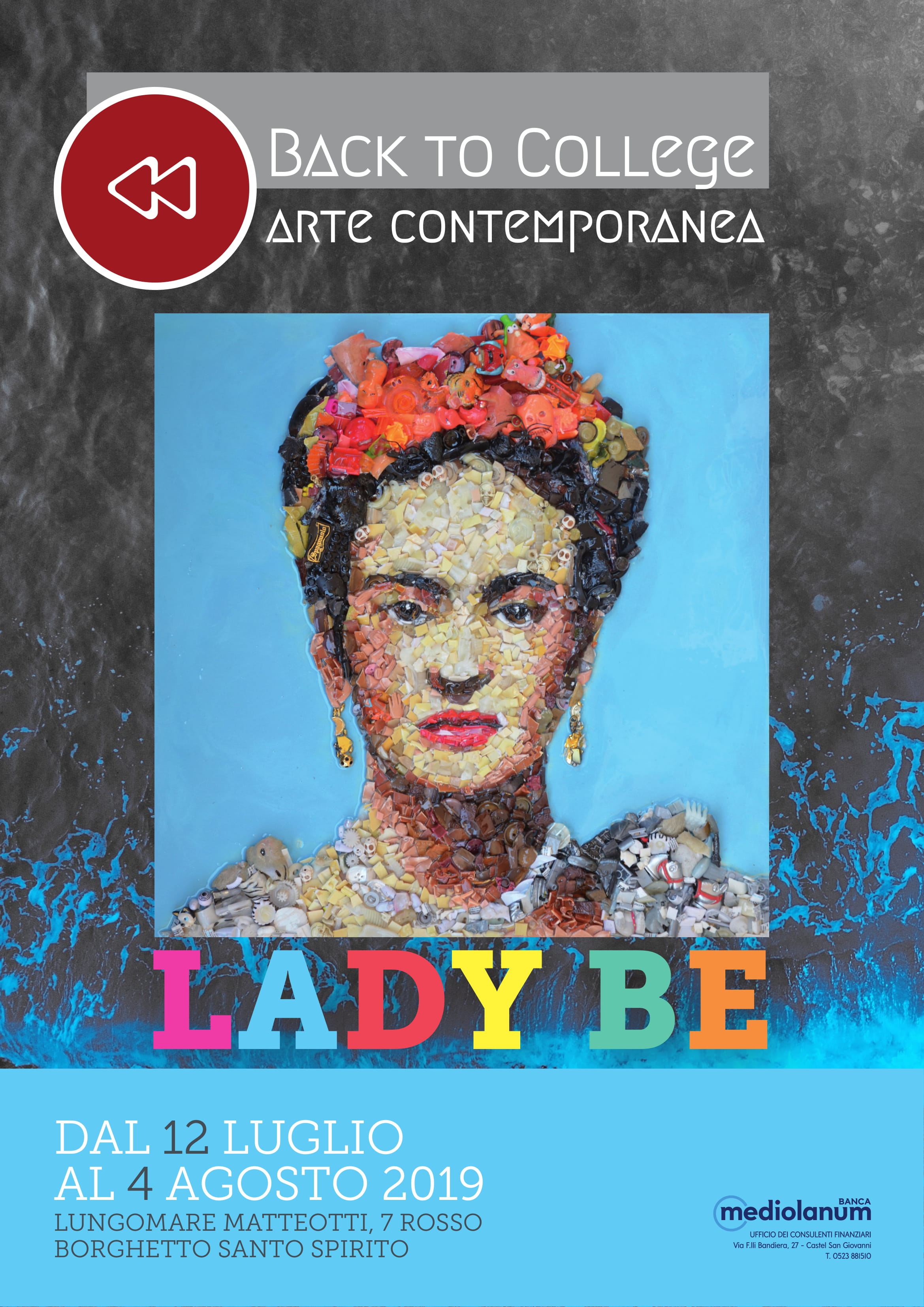 Locandina mostra Lady Be, Borghetto S.S., 2019
