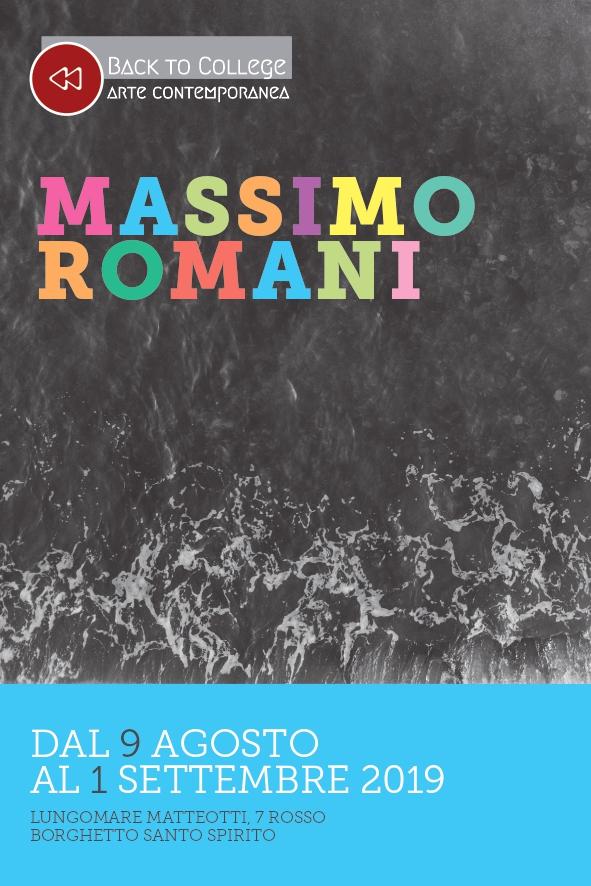 Massimo Romani, mostra a Borghetto S.S. 2019